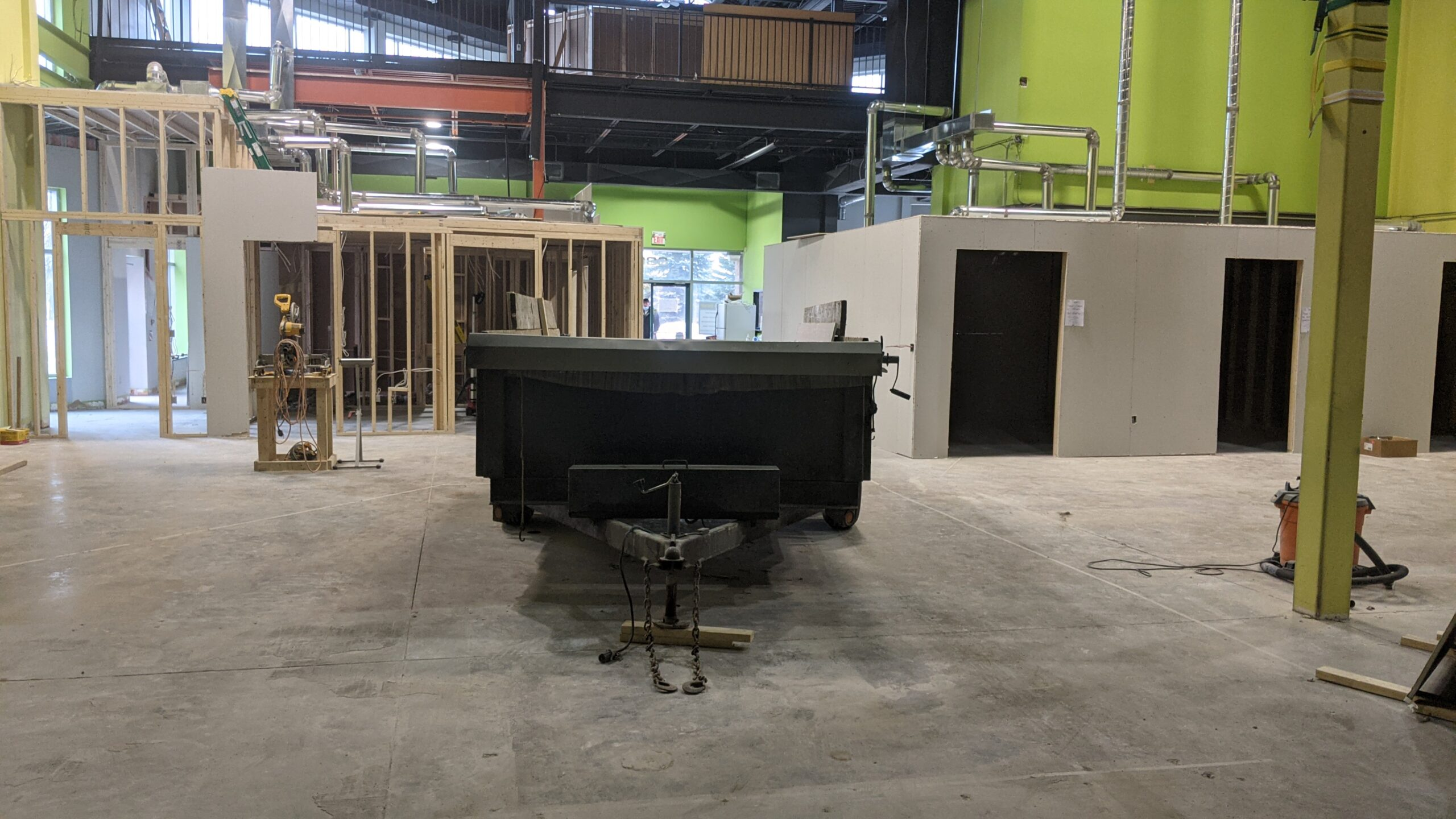 Construction of Bergin Motion's physiotherapy clinic in Barrie Ontario